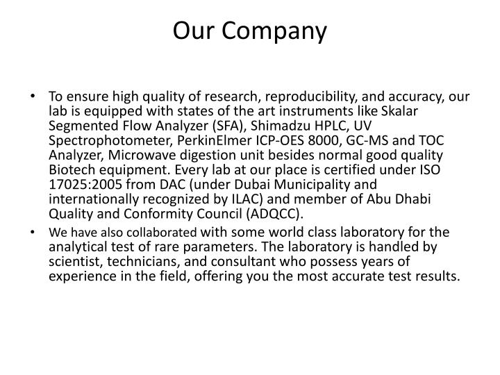 PPT - PSN Life Sciences, Laboratory in Dubai, Equipment Suppliers