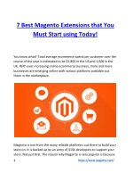 7 Best Magento Extensions that You Must Start using Today!