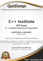 CPP Exam Dumps - Preparation with CPP Dumps PDF [2018]