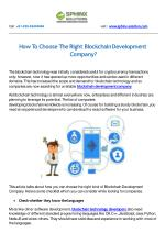 How To Choose The Right Blockchain Development Company?