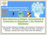 Best Diploma Colleges, Universities & Institutes in Rajasthan | My Shiksha Solutions