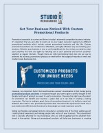 Get Your Business Noticed With Custom Promotional Products