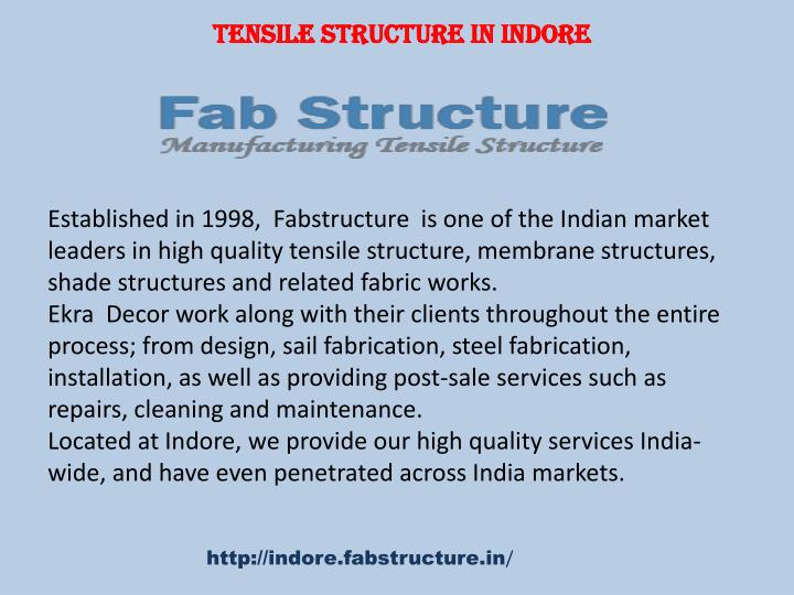 tensile structure in indore n.