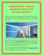 Antriksh Group – The Best Residential Project For Luxurious Lifestyle