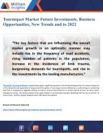 Tourniquet Market Research Report 2022: New Trends, Outlook, Strategies