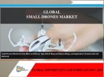 Global Small Drones Market to Reach $13.4 Billion by 2023