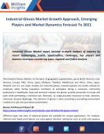 Industrial Gloves Market Growth Approach, Emerging Players and Market Dynamics Forecast To 2021