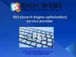 SEO company in Bangalore, SEO, Best SEO Company in India, Best SEO service Provider. | Rich Webs | RWO Info Systems Pvt
