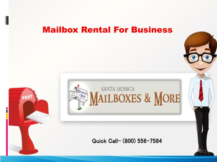 PPT - Mailbox Rental For Business Address PowerPoint
