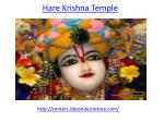How to find hare krishna temple