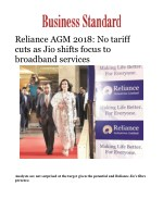 Reliance AGM 2018: No tariff cuts as Jio shifts focus to broadband services