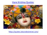 Inspirational Quotes of God Hare Krishna