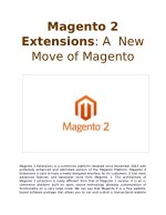 Magento 2 Extensions: A New Move of Magento