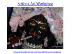Beautiful painting in Krishna Art Workshop