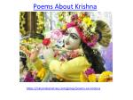 Take a look on Poems about Krishna