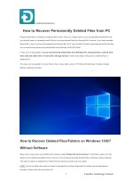 How to Recover Permanently Deleted Files from PC