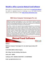 Wealth e office a precise Mutual Fund Software