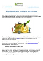 Ongoing Blockchain Technology Trends in 2018