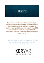 Keryar Website making, Website Design, App design, SEO Services, Hosting services Anand, Gujarat, In