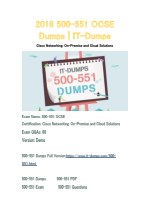 2018 Cisco 500-551 Real Dumps | IT-Dumps