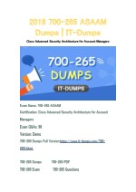 2018 Cisco 700-265 Real Dumps | IT-Dumps
