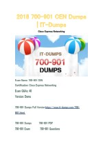 2018 Cisco 700-901 Real Dumps | IT-Dumps