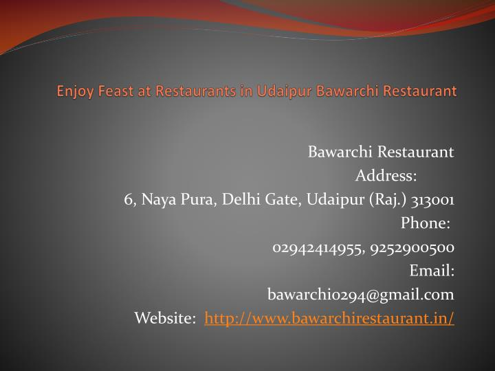 enjoy feast at restaurants in udaipur bawarchi restaurant n.