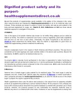 Dignified product safety and its purport healthsupplementsdirect.co.uk