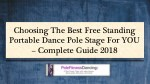 Choosing The Best Free Standing Portable Dance Pole Stage For YOU – Complete Guide 2018