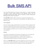 Bulk SMS API At An Affordable Price in Indore