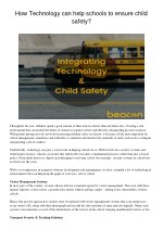 How technology can help schools to ensure child safety