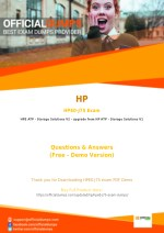HPE0-J75 - Learn Through Valid HP HPE0-J75 Exam Dumps - Real HPE0-J75 Exam Questions