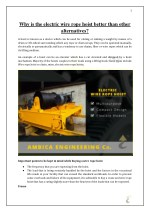 Why is the electric wire rope hoist better than other alternatives