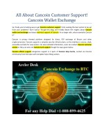 How to Exchange Cancoin Currency BTC?