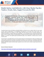 Double Surface Anti-Reflective (AR) Glass Market Top Key Vendors, Trends, Sales, Supply Forecasts By 2022