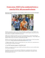 From 2019, NEET to be conducted twice a year by NTA: All you need to know