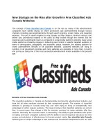 New Startups on the Rise after Growth in Free Classified Ads Canada Websites