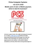 Mobile point of sale vs Mobile payment, which is best for business?