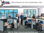 Office Movers from Forward Van Lines | Fort Lauderdale, USA