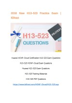 2018 New H13-523 Exam Questions Killtest