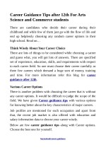 Career Guidance Tips after 12th For Arts Science and Commerce students