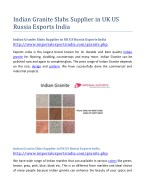 Indian Granite Slabs Supplier in UK US Russia Exports India