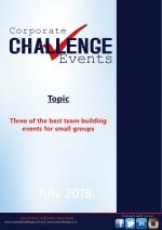 Three of the best team building events for small groups