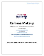 Wedding Make-Up with Your Own Hands - www.ramana-makeup.com