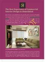 The Best Experience of Commercial Interior Design in Ahmedabad