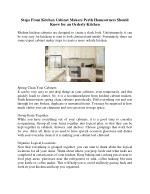 Steps From Kitchen Cabinet Makers Perth Homeowners Should Know for an Orderly Kitchen