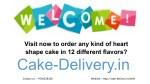What to do in order to order a heart shaped cake in any flower at midnight? Visit Cake-Delivery.in ?