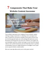 7 Components That Make Your Website Content Awesome