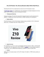 Vivo Z10 Review: The Chinese Brand Is Back With A New Phone