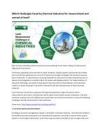 Which Challenges Faced by Chemical Industries for measurement and control of level?
